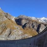 A huge dam