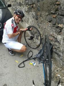 flat tire in Catania