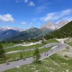 north ascent to passo pordoi