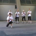 Sax quintett to cheer us up...