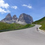 southern side of passo sella