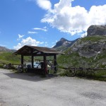 bike shelter at Auberge du Sanetsch