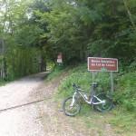 start of gravel road