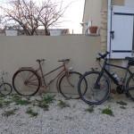 three generations of bikes